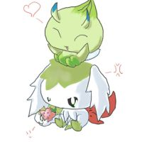 Celebi Shaymin and Skymin by Chaomaster1