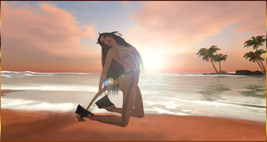 Succubus at the beach 01 - Second Life by Jace-Lethecus