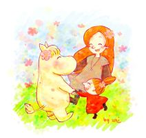 Moomins girls by uniumi