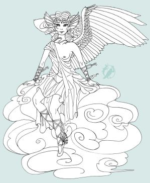 The Messenger of Gods -lineart-