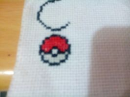 pokeball Cross stich by clayfangirl