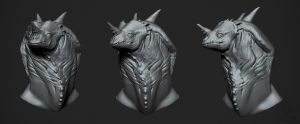 dragon head speed sculpt by VertexBee