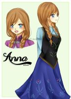 Anna from Frozen (Sketch) by Rizun27