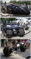 TDKR Batman Tumbler and Bat-Pod by ThunderCougar