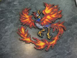 Perler Final Fantasy 6 Summon Phoenix by rushtalion