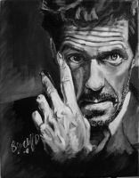 another hugh laurie painting by cliford417