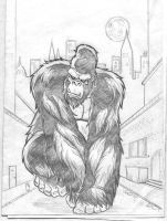 King Kong -pencils- by kennydalman