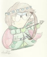 Lady Douchebag: the Archer Elf by Sunny-Scribble