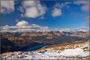 Highlands in Winter by Rebacan