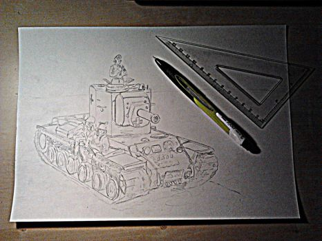 KW-2 raw scetch by Cune