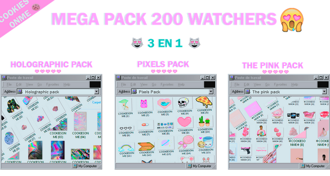 +/MEGAPACK 200 WATCHERS |GRACIASS by COOKIESONME