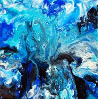 Abstract Fluid Painting 45 by Mark-Chadwick