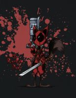 Rocket Raccoon Deadpool by kamy2425