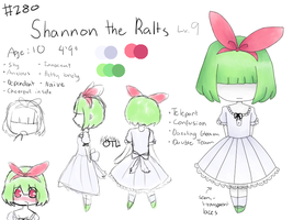 REF: Shannon the Ralts by PeacefulMoonlight