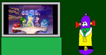 LarryBoy Watching Inside Out in the Living Room by MichaelSquishyEddy89