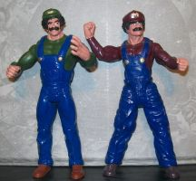Extreme Luigi Custom Figure by venkman3000