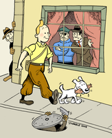 Tintin in color by Juanele