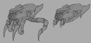 Concept art Alien aircfat by wolffoss