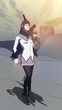 Post-Apocalyptic Homura by AsFoxger