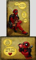 Deadpool's Valentine by hybridflowers