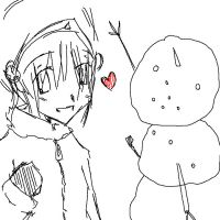 Toph makes a snowman by lone-wolf520