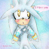 silver the hedgehog love you by MilkySoul