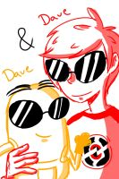 Dave and Dave - sketch - by VanessaGiratina