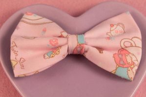 Little Twin Stars Hair Bow by PeppermintPuff