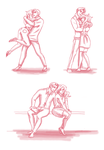 Dramione Poses by deimlacquer