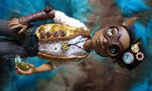 Monster High custom Steampunk Clawd by redmermaidwerewolf