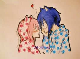 Lovely Kitty couple by SolemnWishMaster