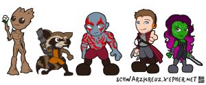 Lil' Guardians by doppelgangergeisha