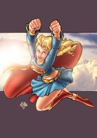 Supergirl Commission in color by ComfortLove