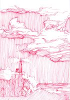 RED: Cloudy Lighthouse by Gumbogamer