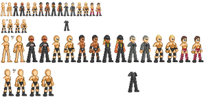 Wrestler Sprites Set 1 by akumath