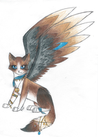 Winged cat adopt by cinface