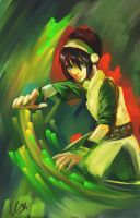 ATLA: Toph Color Bending by fanservice25