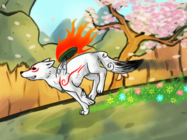 Okami Print by Pepper-Head