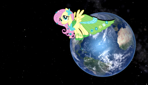 Fluttershy Gaia Earth Wallpaper by Mach-Volt