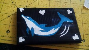 dolphin love duct tape wallet by Fairygirl1031