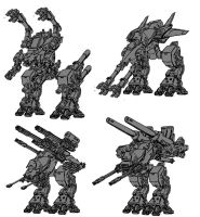 mech designs by Hopeyouguessedmyname
