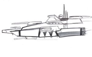Space masters: Axis ship type 1 by Jepray