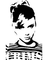 50's Girl Stencil by xManuelx