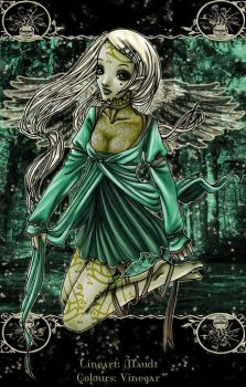 + green forest fairy + by belle-macabre