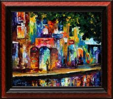 New cityscape by Leonid Afremov by Leonidafremov