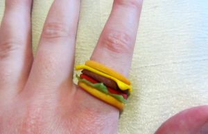 Burger Ring (View I) by Aya-no-Shrink-Ray