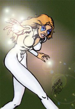 Classic Dazzler colourhalftone by theRealJohnnyCanuck