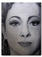 Alex Kingston Portrait Canvas by RavenMedia
