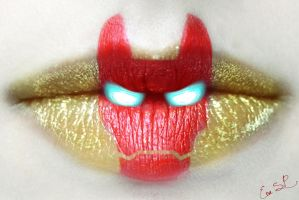 Iron Man Lip Art by Chuchy5