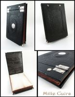 Black Leather Ledger by MilleCuirs